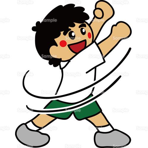 ラジオ体操男の子こどものイラスト2150016 クリエーターズスクウェア