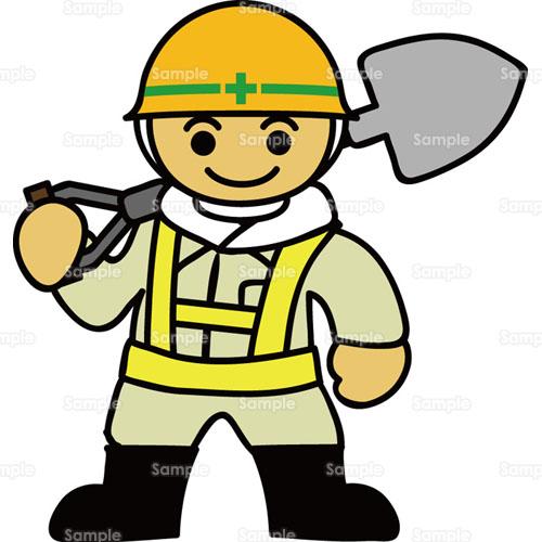 工事現場スコップシャベルヘルメット作業作業服作業着作業員職人