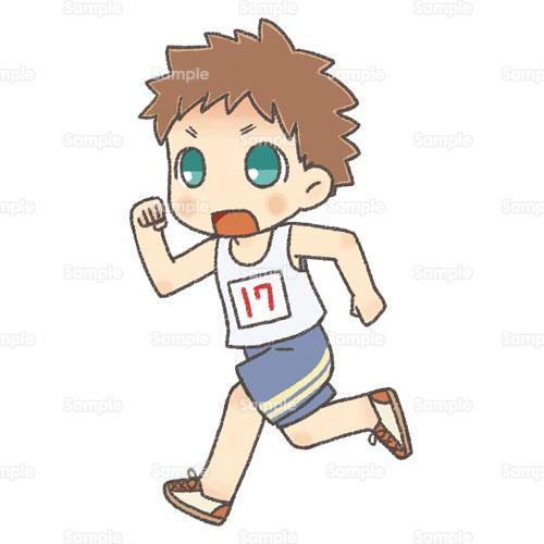 かけっこ徒競走マラソン男の子のイラスト2200002 クリエーター