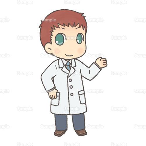 医者先生研究者医師ドクター白衣男性のイラスト2200005