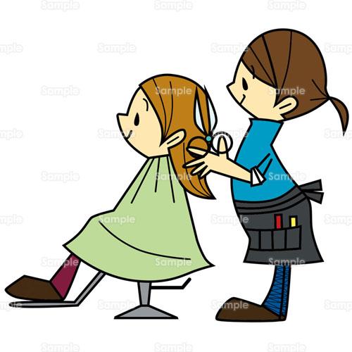 美容師 美容院 カット はさみ ファッション のイラスト 223 0045