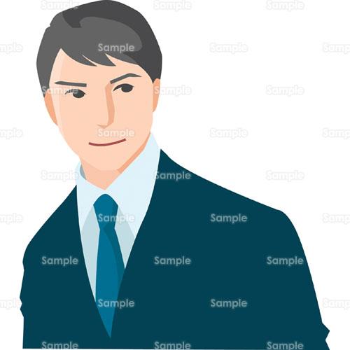 男性スーツ会社員ビジネスマンサラリーマンのイラスト2420001