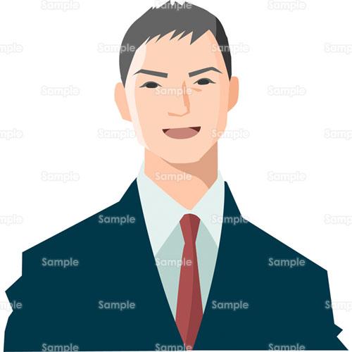 男性スーツ会社員ビジネスマンサラリーマン笑顔のイラスト