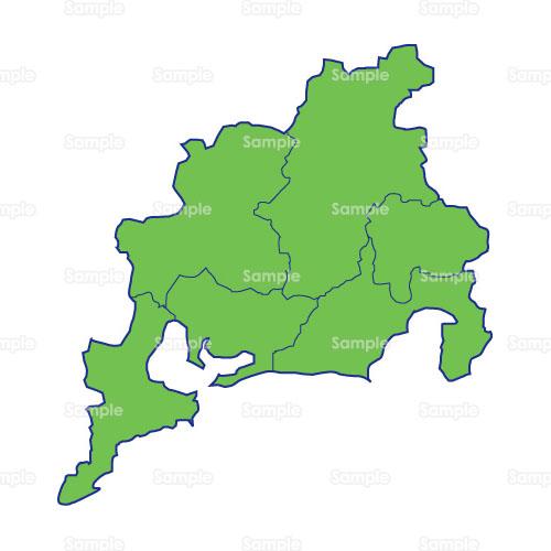 地図 日本地図 中部地方 東海地方 のイラスト Busi10 005 クリエーターズスクウェア