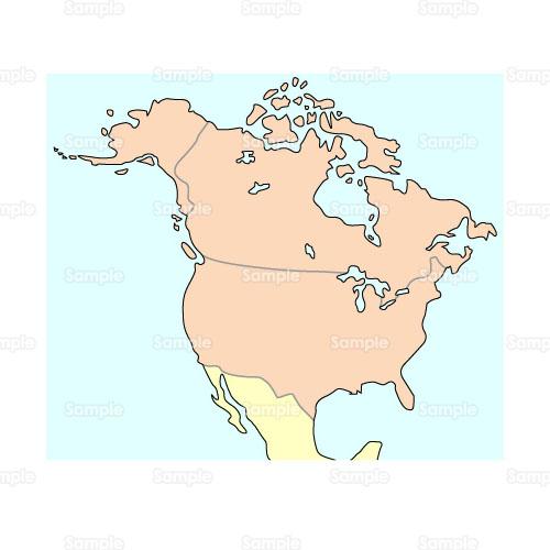 イラスト - 地図,世界地図,北米,アメリカ大陸,アメリカ,カナダ,