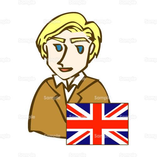 イラスト - イギリス,GB,UK,国旗,